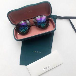 [ new ] Gucci Tiger Hologram Aviator Sunglasses